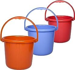 Saurabh Shaktiman Unbreakable Bucket - Pack of 3 - Multicolor