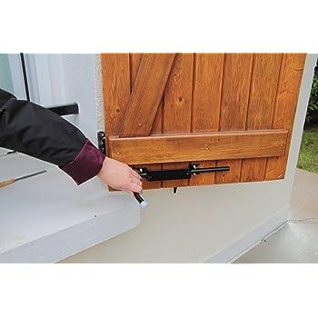 bloque volet noir 2 arr ts de volet avec poign e pour. Black Bedroom Furniture Sets. Home Design Ideas