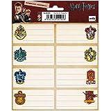 Grupo Erik - Pack de 16 Étiquettes Autocollantes de 8 x 4 cm, Harry Potter Maisons de Poudlard   Étiquettes Scolaires, Étique