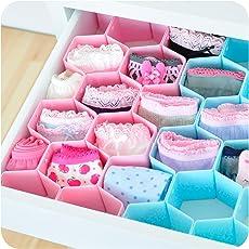 INOVERA (Label) Honeycomb Underwear Innerwear Socks Organizer Drawer Clapboard Closet Divider, Assorted