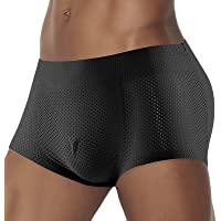 G&F Mens Padded Butt Lifter Shorts Hip Enhancer Boxer Underwear Shapewear (Color : Black, Size : Medium)