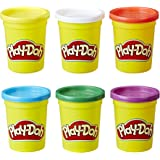 PLAY-DOH 6-Pack of Primary Colors, Cans of Non-Toxic Modeling Compound