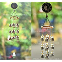 Paradigm Pictures fengshui Items Wind Chimes for Home Garden Decoration Hanging Item (Silver, Bells)