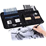 40pcs/ Set Professional Sketching Drawing Pencils Kit Including Sketch Graphite Charcoal Pencils Willow Sticks Erasers Sharpe
