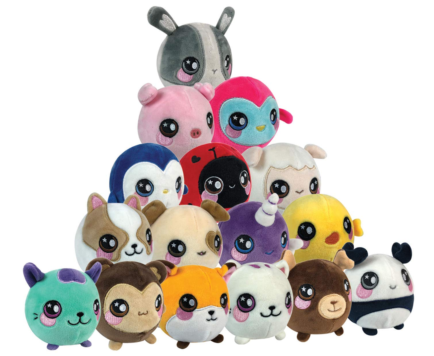 Squeezamals Slow Rising Soft toy, Squishie, Squeezy and Scented Plush Animals (Variety of Styles - Styles Picked at Random) 1