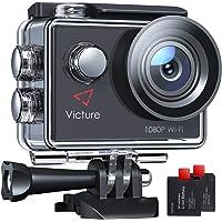 Victure AC420 Action Cam 14MP WI-Fi Full HD 1080P wasserdichte Sport Action Kamera 30M Unterwasserkamera mit 2 Zoll LCD…