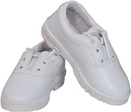 Yoswank Derby School White Shoes for Boy Size