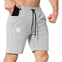 ZENWILL Men's Zip Gym Shorts Running Fitness Sports Workout Shorts Men with Pockets