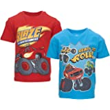Nickelodeon Blaze and The Monster Machines - Camisetas de manga corta para niño (2 unidades)
