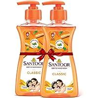 Santoor Hand wash Classic, 200ml (Buy 1 Get 1)