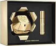 Paco Rabanne Lady Million Eau de Parfum, 80ml and Travel Spray, 10ml