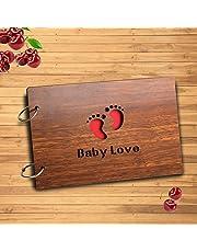 innerbit™ 'Baby Love' Artistic Wooden Photo Album Scrap Book 30 Pages - Size (22 cm x 15 cm) Gift Item