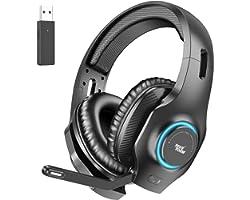 REDSTORM Auriculares inalámbricos para PC, Juegos, Micrófono con Cancelación de Ruido con Micrófono, Sonido Envolvente Estére