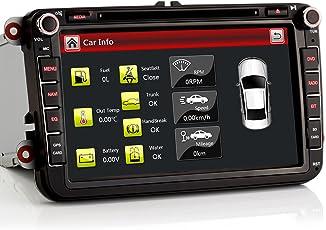 "iFreGo 8"" AUTORADIO DVD 8 zoll GPS Für VW Golf,Passat,Tiguan,Polo,Jetta,Skoda Fabia Octavia,Yeti, Seat Leon,Touran,Candy, Sharan,Amarok, mit 3G Wifi DVD GPS NAVIGATION NAVI USB SD BLUETOOTH"