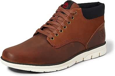 Timberland Bradstreet Leather Sensorflex, Stivali Chukka Uomo, Rosso ( Rossetto 012), 43.5 EU