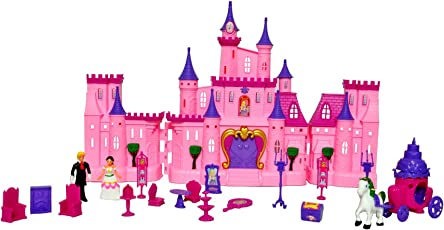 Toyshine Big Size Castle Doll House with Accessories - Musical Dollhouse