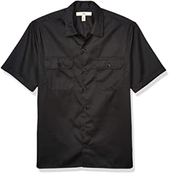 Amazon Essentials Men's Short-Sleeve Stain and Wrinkle-Resistant Work Shirt