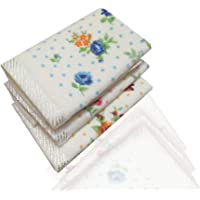Saana Luxury Women Cotton Face Towels White color with Floral Print