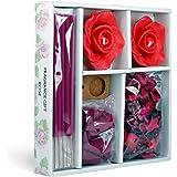 Iris Rose Candle Incense Stick & Potpourri Fragrance Gift Set (163 cm x 26 cm x 163 cm, Red)