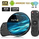Android TV BOX, TICTID T8 MAX Android 10.0 TV Box RK3318 64bits /4G+128G Con Mini Tastiera Dual WiFi 2.4G / 5GHz, 100M…