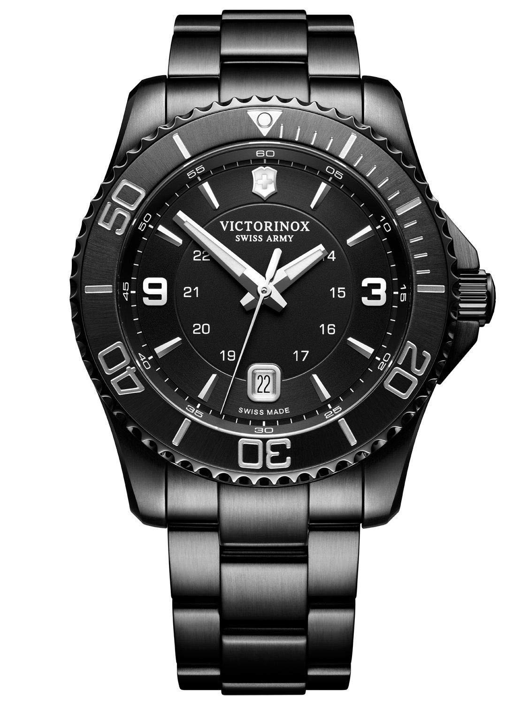 Victorinox Men's Maverick Black Edition – Swiss Made Analogue Quartz Stainless Steel Watch 241798