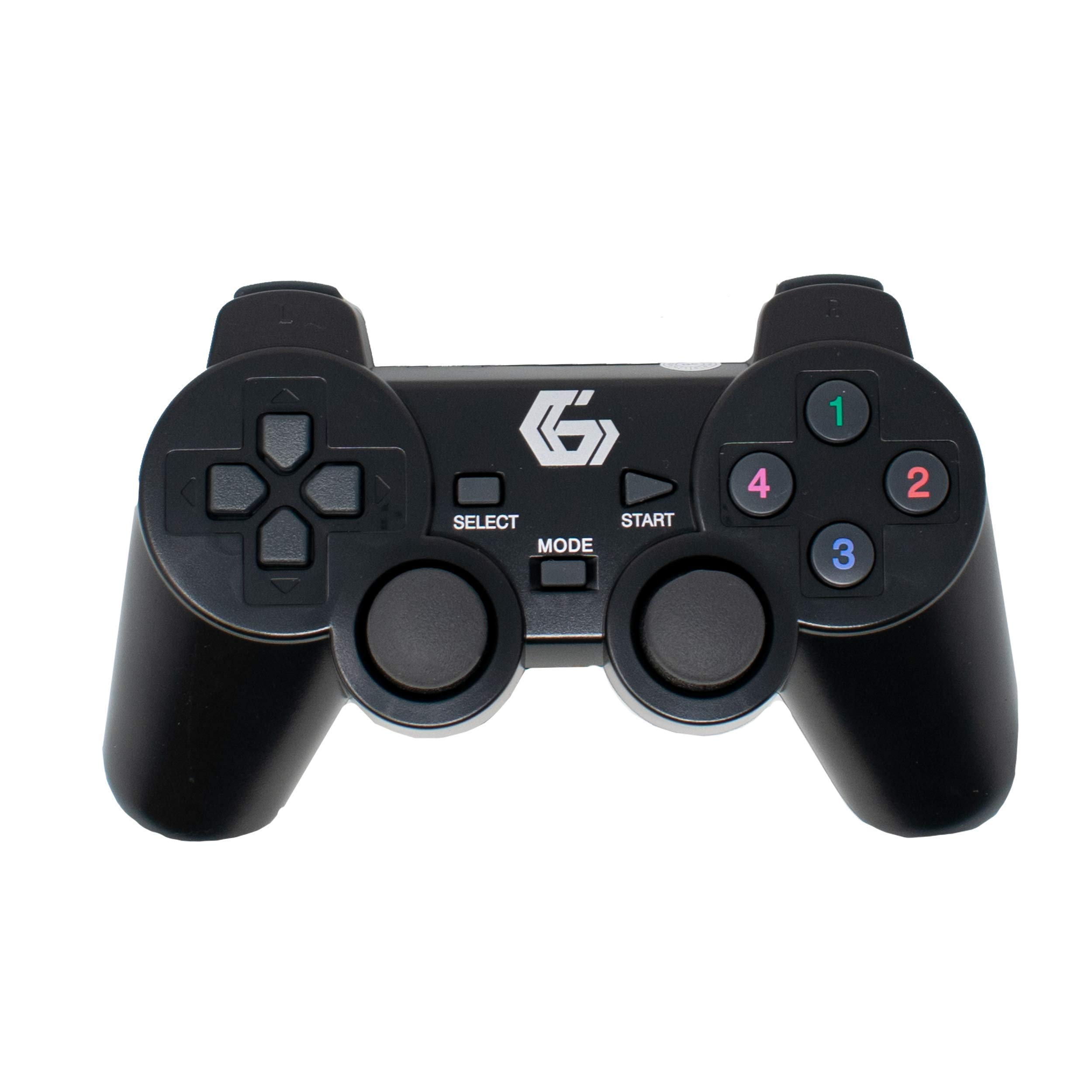 2.4GHz Sans Fil Vibrations Double Gamepad / De Keux Contrôleur Joypad pour PS2/PS3/PC (Windows 7/8/10) / iCHOOSE
