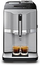 Siemens TI303503DE Kaffeevollautomat EQ.3 s300, Direktwahl über beleuchtete Sensorfelder, oneTouch Function, Keramikmahlwerk, 15 Bar, titansilber