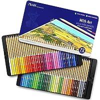 TOPERSUN 72 Crayon de Couleurs Aquarelles Numérotés Set de 72 Couleurs Aquarellables Uniques Pré-taillé pour Coloriage…
