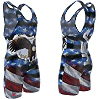 USA Eagle Sublimated Wrestling Singlet: Youths and Mens sizes, by 4 Time