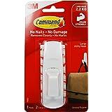 Command Grote Utility Hook Pack van 1 Haak en 2 Zelfklevende Strips, Wit - Schadevrij Opknoping - Houdt tot 2,2 kg