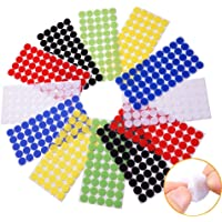 Arlent 324pairs 1cm Diameter Colorful Hook and Loop Self Adhesive Fastener Dots Coins Sticky Back Heavy Duty Circles…