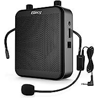 Giecy Amplificateur voix portable avec microphone casque 30W Batterie rechargeable 2800mAh Système de sonorisation…