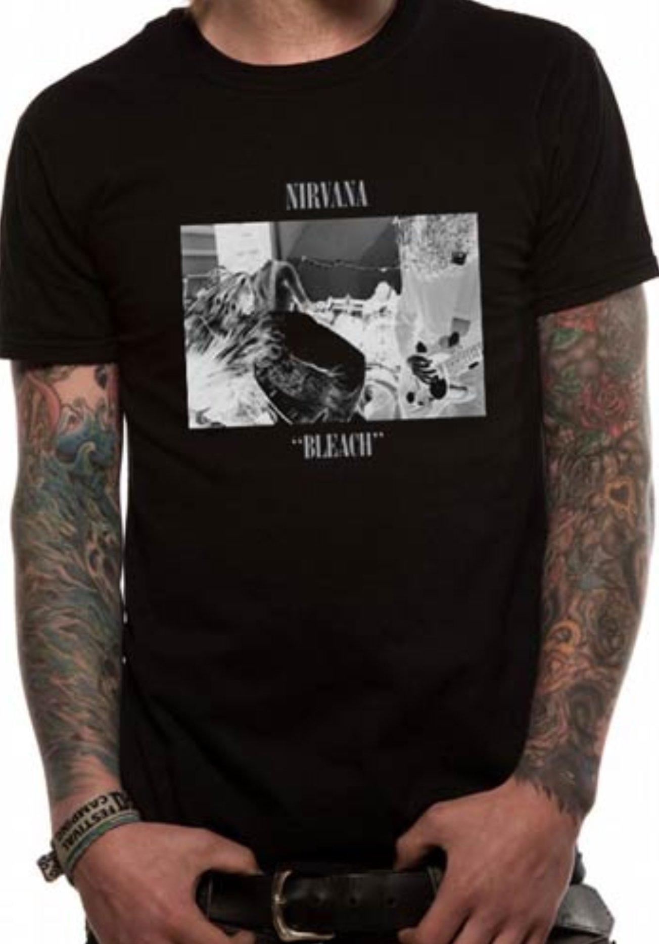 Nirvana prodotto ufficiale UNI-SEX Tee nuovo varie misure Bleach, XL