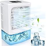Climatiseur Portable, 4 en 1 Mini Refroidisseur d'air, Climatiseur Mobile Silencieux Ventilateur, Air Humidificateur Purifica