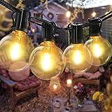 Guirlande Lumineuse Intérieur Exterieur,Bomcosy LED Guirlande Lumière Exterieur avec 12 ampoules 7,6M IP45 Guirlande Guinguet