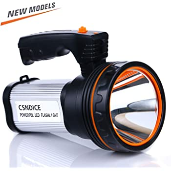 Maibahe Searchlight Grab Handle CREE LED Torch Rechargeable Manual Focus...