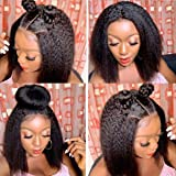 TOOCCI parrucche capelli umani Veri yaki straight wig parrucca donna 4x4 lace front capelli ricci brasiliani vergini…