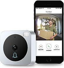 vuebell WiFi Video Türklingel Kamera, mit 2-Wege-Audio, Bewegungsmelder, Nachtsicht, Tür Kamera und zusätzliche Wireless Türklingel im lieferumfang enthalten (Hard Wired Version)