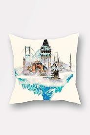 Bonamaison Decorative Throw Pillow Cover, Multi-Colour, 44 x 44 cm, BNMYST1885