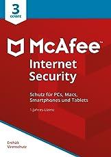 McAfee Internet Security 2018 für 3 Geräte [Online Code] [Online Code]