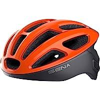Sena R1 der Smarte Fahrradhelm (Electric Tangerine, Größe S)