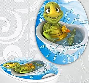 Aufkleber Für Toilettendeckel : wc sitz aufkleber schildkr te in badewanne design folie ~ Watch28wear.com Haus und Dekorationen