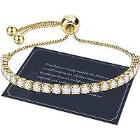 J.Fée Sterling Silber Shining 5A Zirkonia Kristall Armband Muttertag Geburtstag Hochzeit Geschenk mit Box für Mutter…