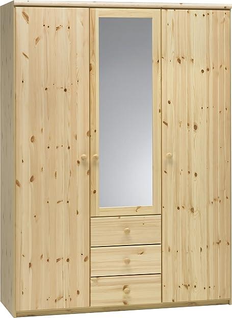 Steens Axel Kleiderschrank, Kiefer teilmassiv, 3 türig, 200x145x62 ...