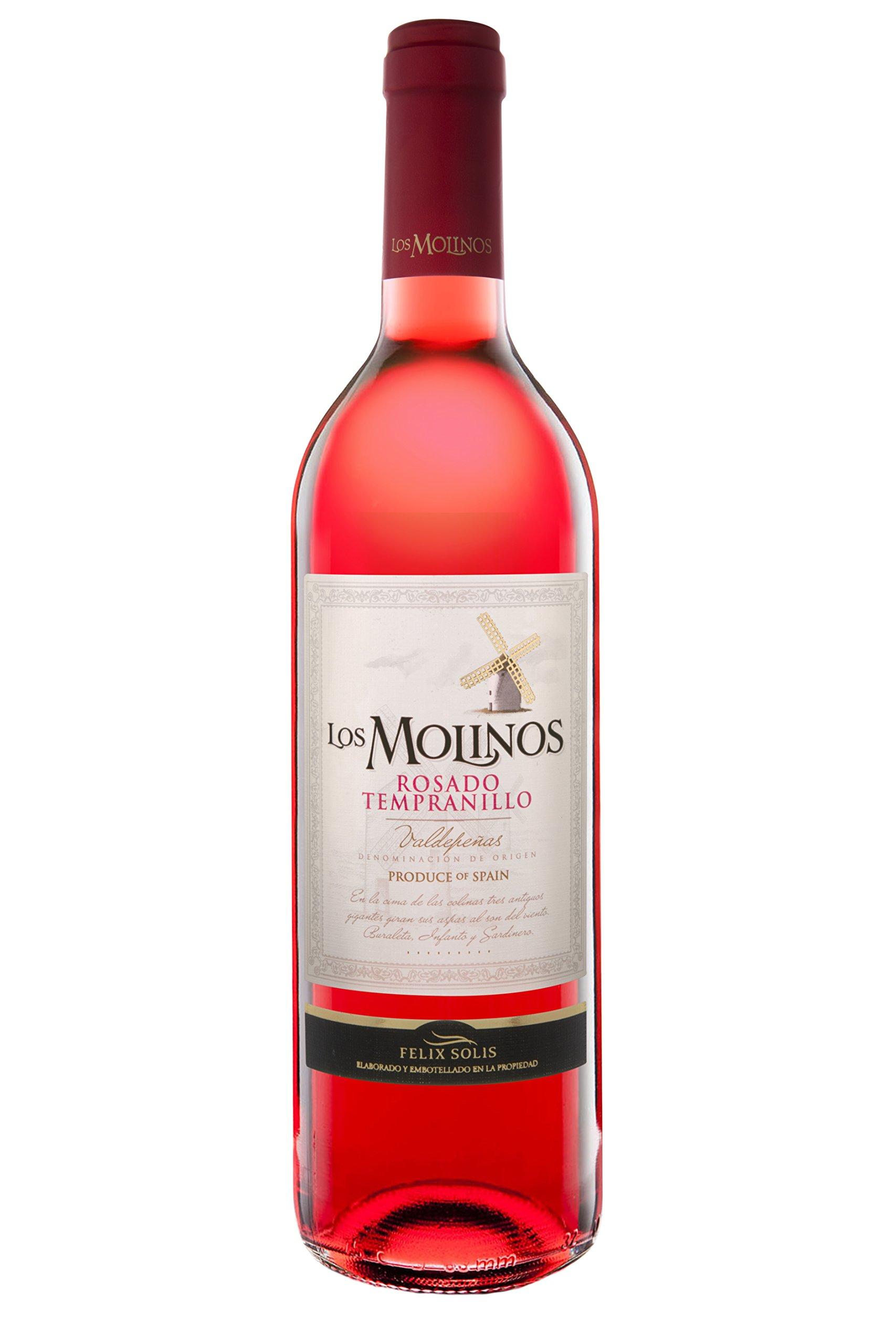 Los Molinos Tradición Rosado D.O. Valdepeñas Vino - Paquete de 6 x 750 ml - Total: 4500 ml