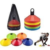 SIMEIXI 50 Coni per l'allenamento del Calcio, Coni con Logo, Coni a Disco, Coni Multicolori per l'allenamento Sportivo…