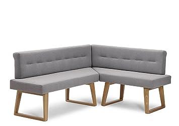 Naturnah Möbel Eckbank U0026quot;Divineu0026quot;. Modernes Design Aus Leder Und  Massivholz, Wildeiche