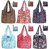 6er/Pack 42x64cm Wiederverwendbare Faltbare Einkaufstasche,Tragbare Einkaufstasche Faltbar Einkaufsbeutel,Umweltfreundliche E