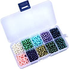 1000pcs 10 Colors Imitation Pearl Beads for Jewelry Making Crafts Kids DIY Necklace Bracelet