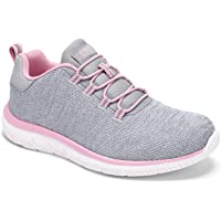 HKR Damen Slip On Sneaker Memory Foam Bequem Turnschuhe Walkingschuhe